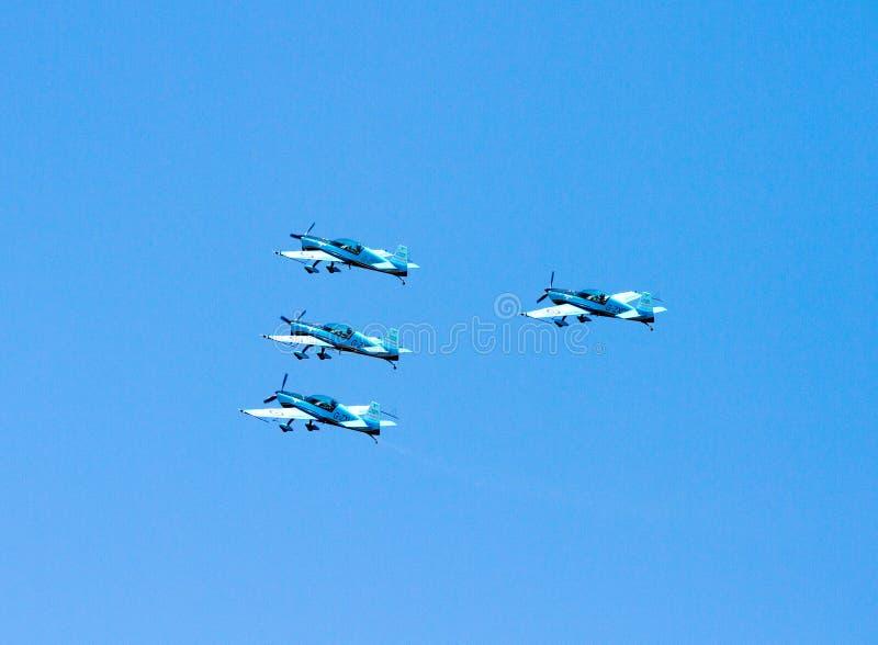 Squadra Aerobatic della visualizzazione delle lamierine fotografia stock libera da diritti