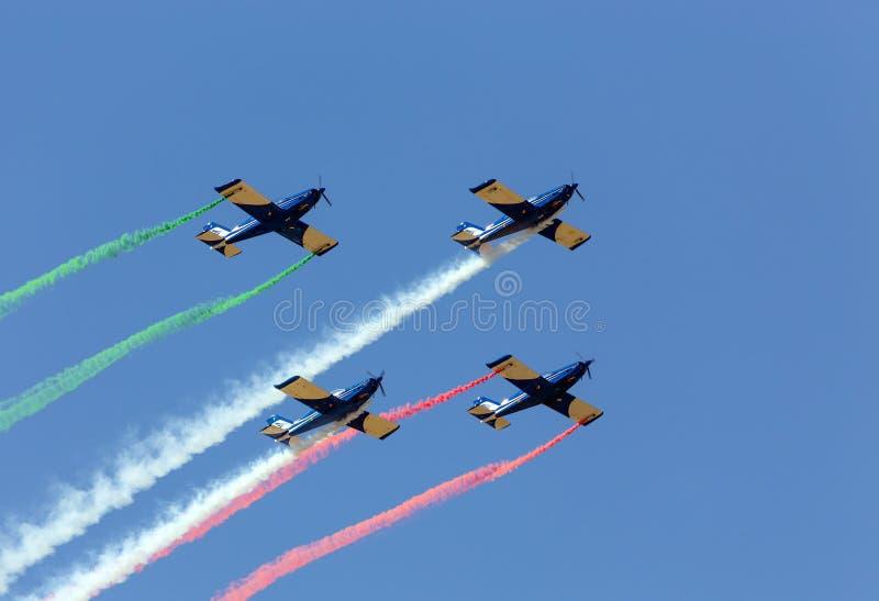 Squadra Aerobatic nella formazione fotografia stock libera da diritti