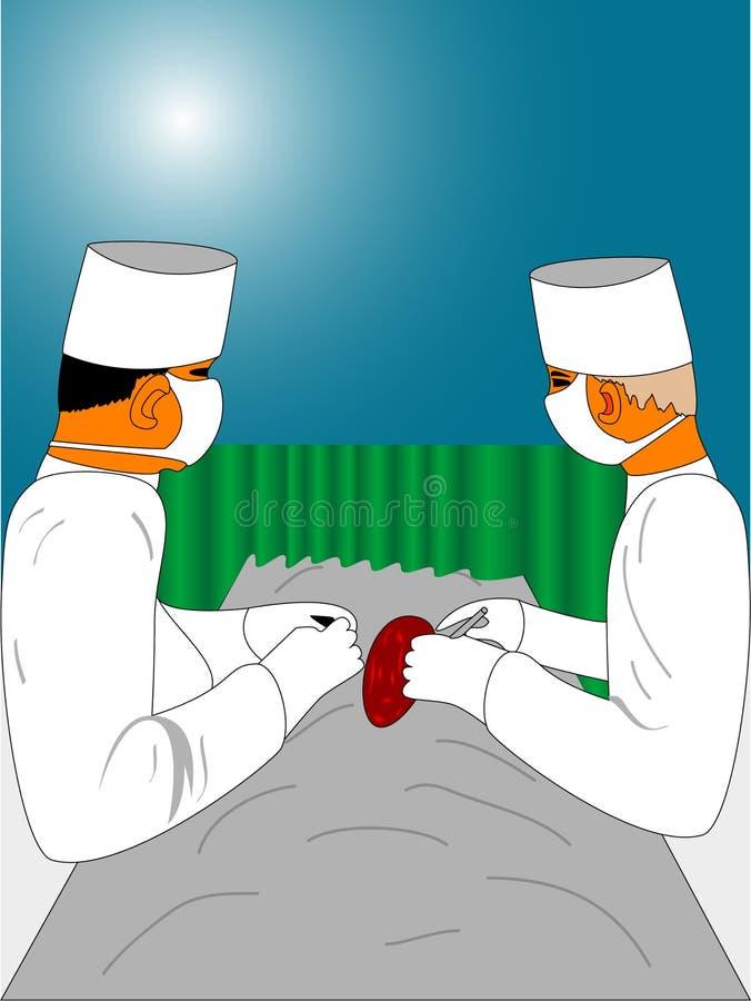 Squadra chirurgica illustrazione vettoriale