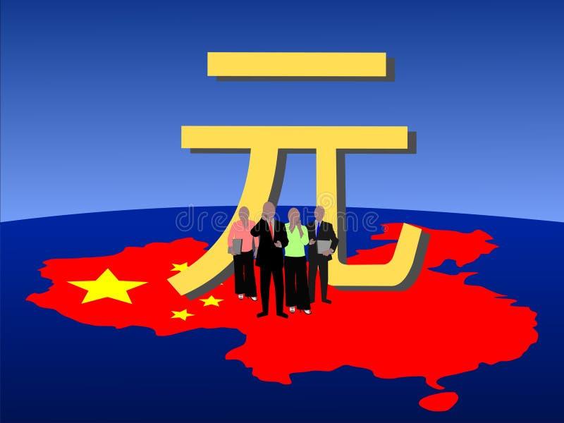 Squadra cinese di affari royalty illustrazione gratis