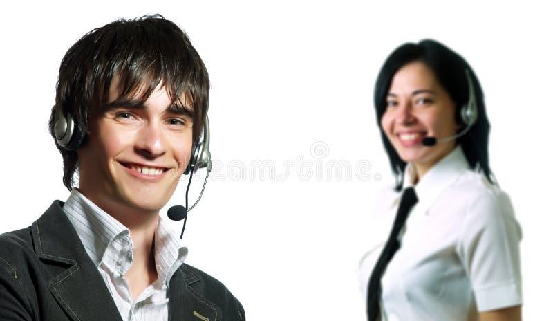 Squadra dell'operatore del servizio d'assistenza immagini stock