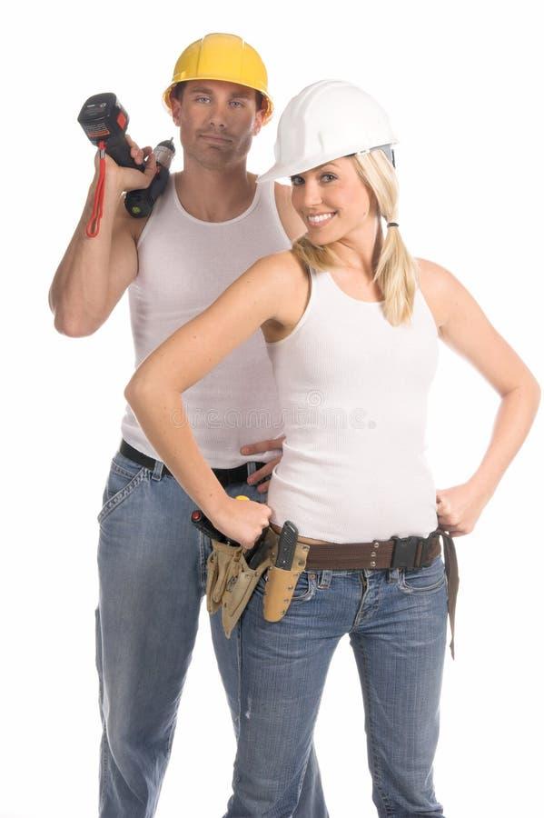 Squadra della costruzione fotografia stock libera da diritti