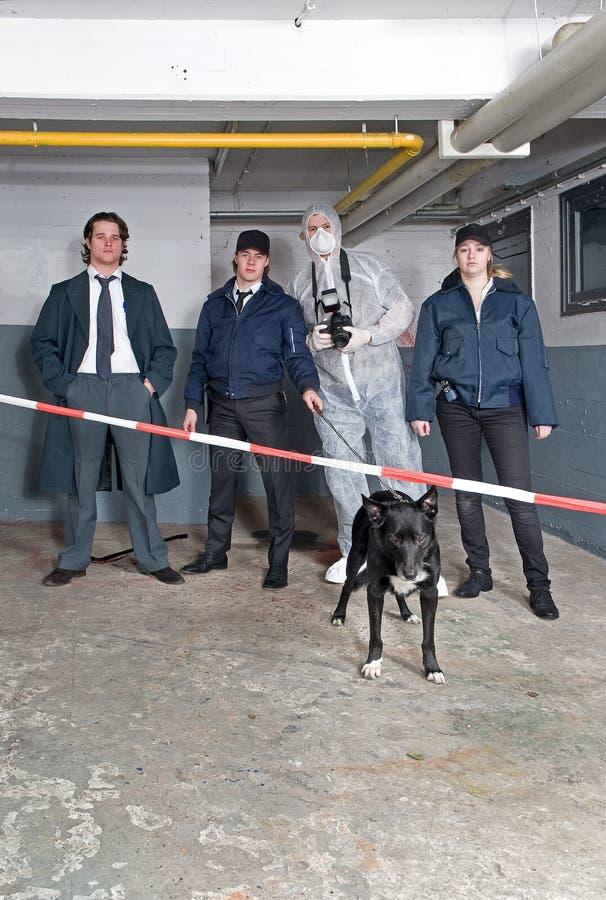 Squadra della polizia fotografie stock