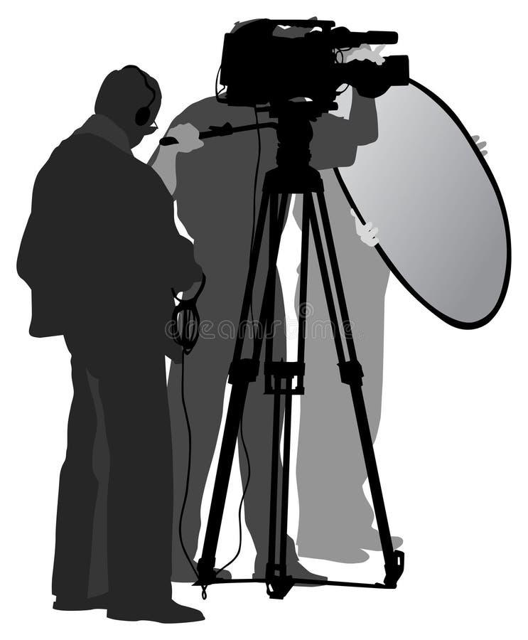 Squadra della TV fotografia stock libera da diritti