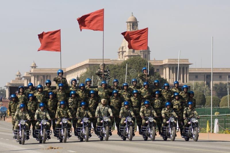 Squadra della visualizzazione della motocicletta fotografia stock
