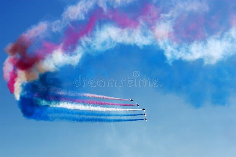 Squadra di acrobazie aeree a Airshow fotografia stock