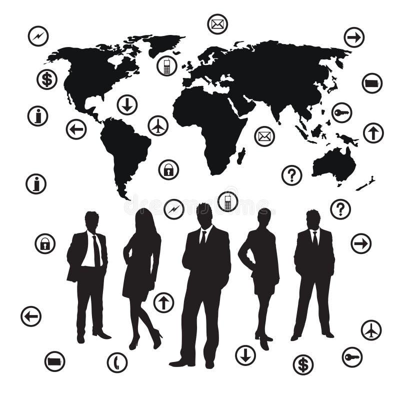 Squadra di affari illustrazione vettoriale