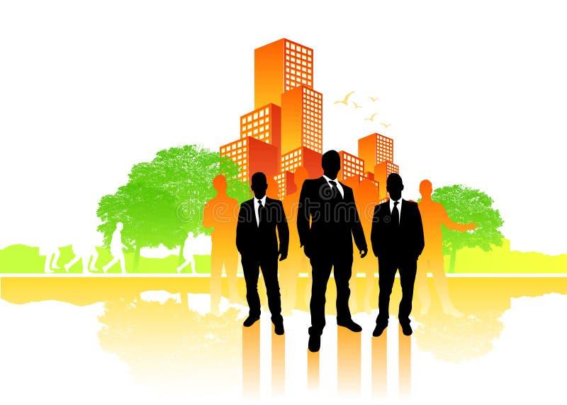 Squadra di affari della città illustrazione vettoriale