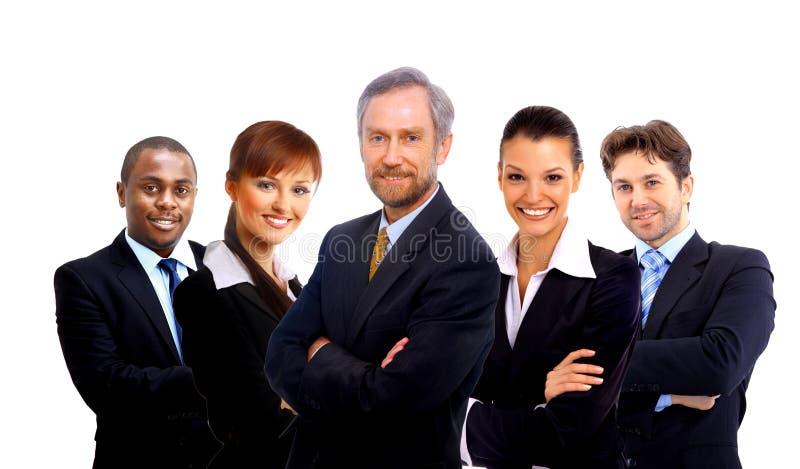 Squadra di affari e una guida fotografia stock libera da diritti