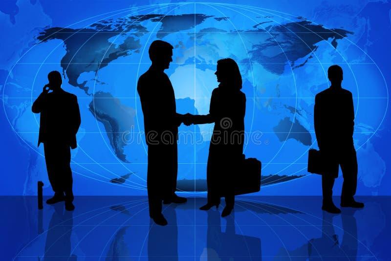 Squadra di affari globali royalty illustrazione gratis