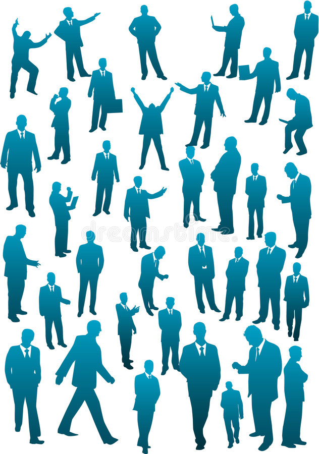 Squadra di affari - grande accumulazione illustrazione di stock