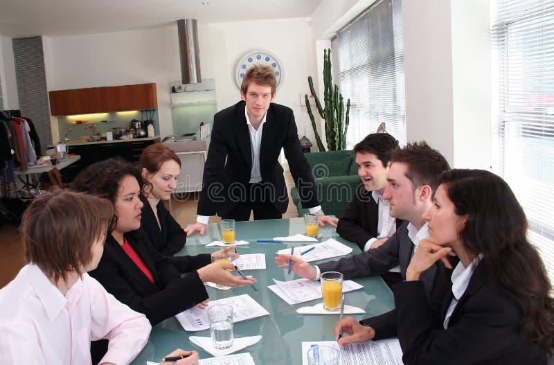 Squadra di affari - la sporgenza immagini stock