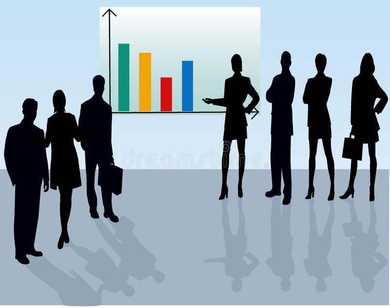 Squadra di affari - siluetta di vettore illustrazione di stock
