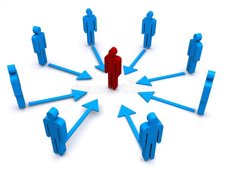 Squadra di comunicazione di affari illustrazione vettoriale