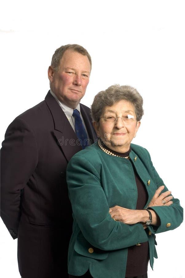Squadra di donna e dell'uomo immagine stock