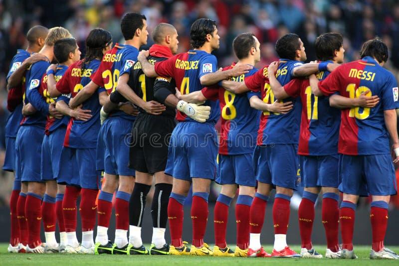 Squadra di FC Barcellona fotografie stock libere da diritti