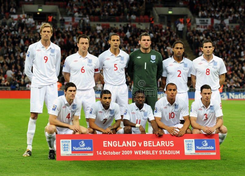 Squadra di football americano del cittadino dell'Inghilterra immagine stock libera da diritti
