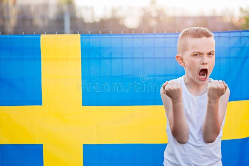 Squadra di football americano del cittadino della Svezia fotografia stock libera da diritti