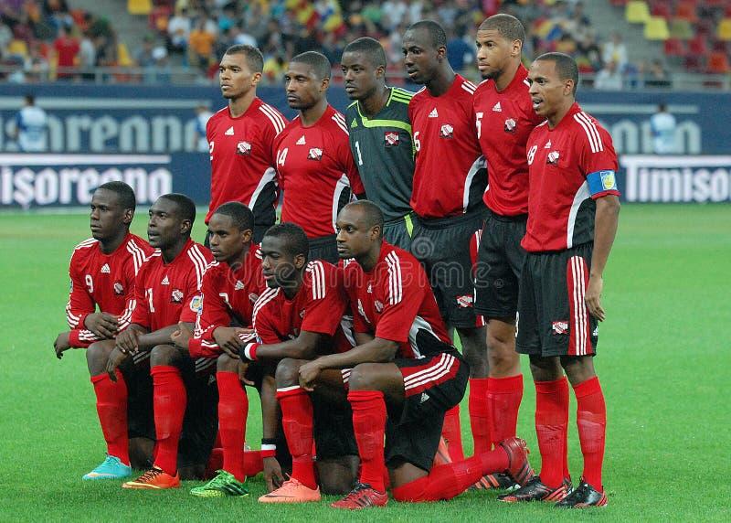 Squadra di football americano del cittadino di Tobago & di Trinidada immagine stock libera da diritti