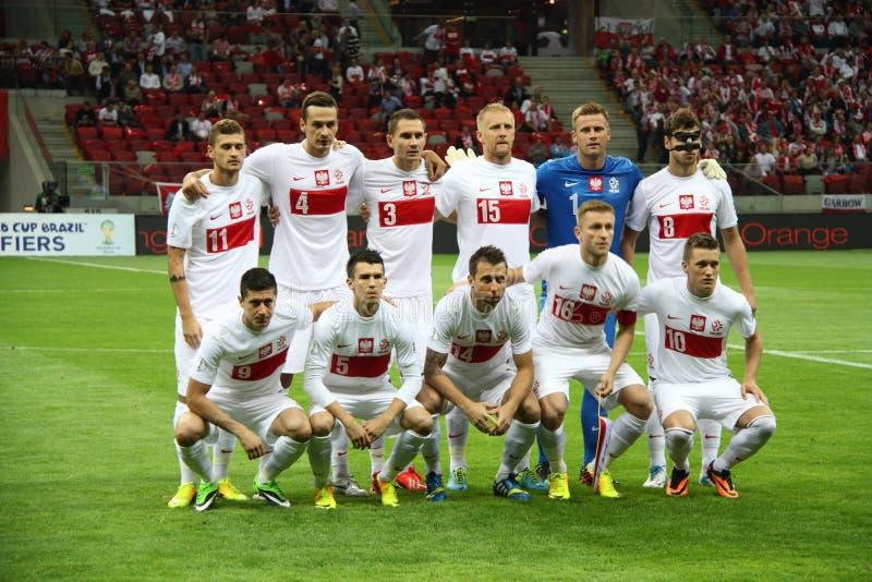Squadra di football americano della Polonia fotografia stock libera da diritti