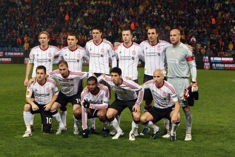 Squadra di football americano di FC Liverpool fotografia stock libera da diritti
