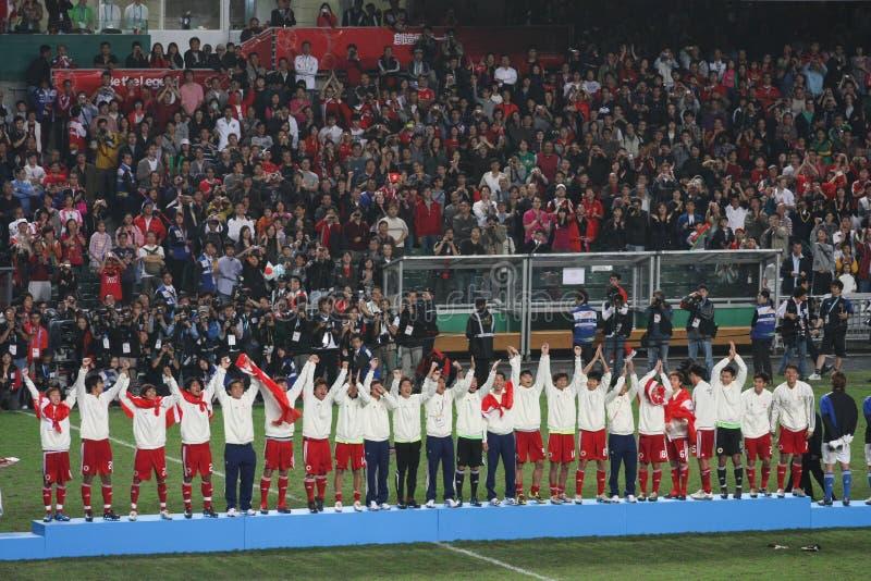 Squadra di football americano di Hong Kong in Giochi Asiatici orientali 2009 fotografia stock