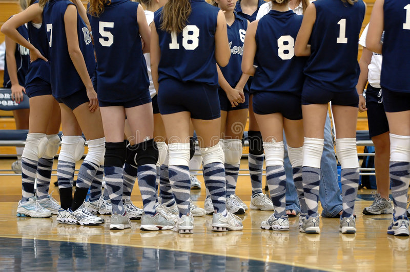Squadra di pallavolo delle ragazze immagine stock libera da diritti