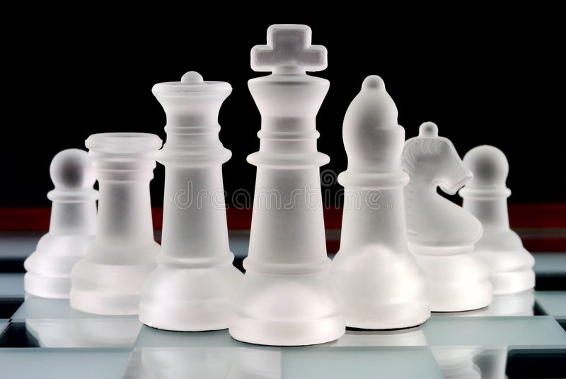 squadra di scacchi fotografia stock libera da diritti
