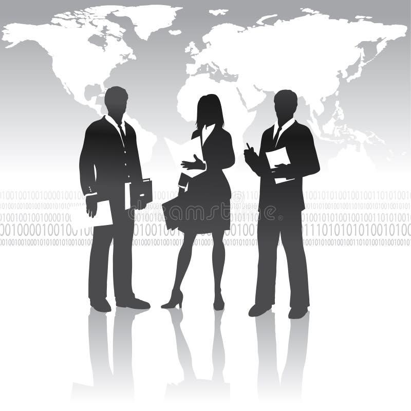 Squadra internazionale di affari royalty illustrazione gratis