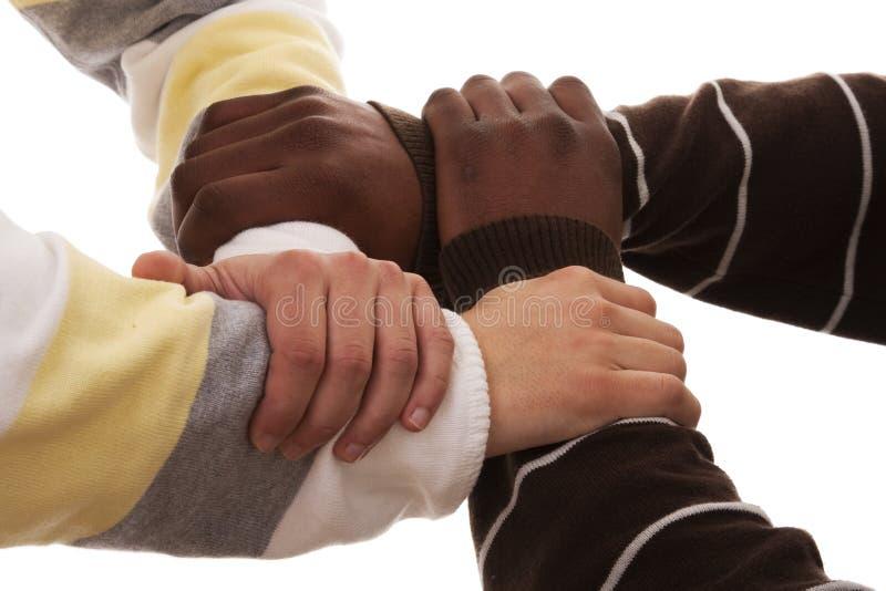 Squadra Multiracial fotografie stock