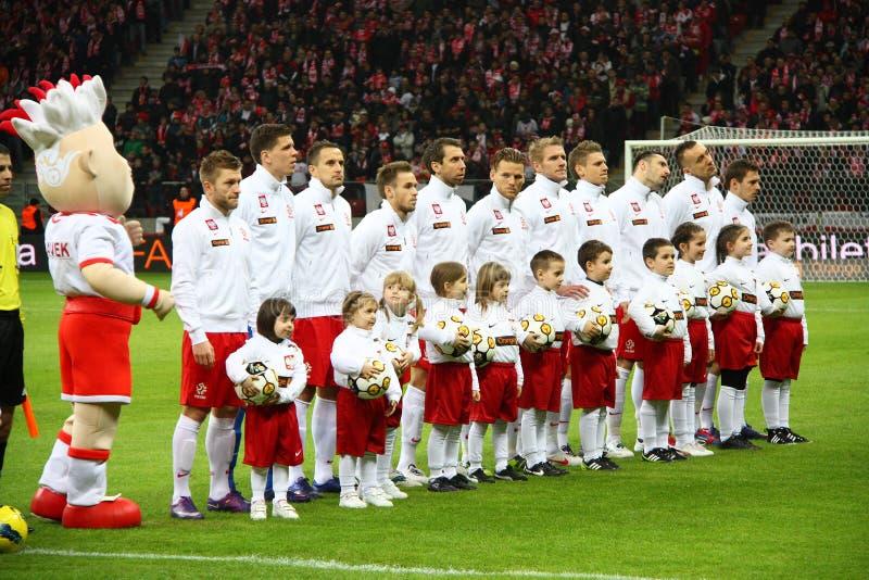 Squadra nazionale della Polonia fotografie stock