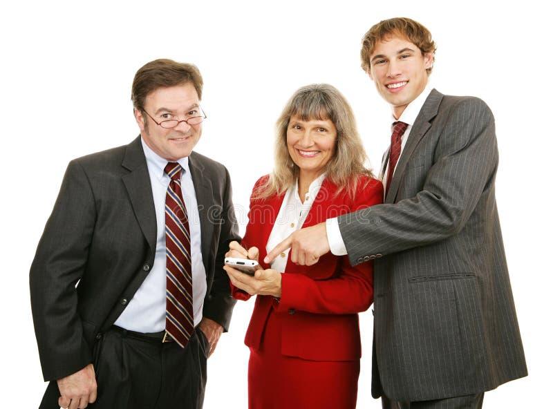 Squadra PDA di affari fotografia stock libera da diritti