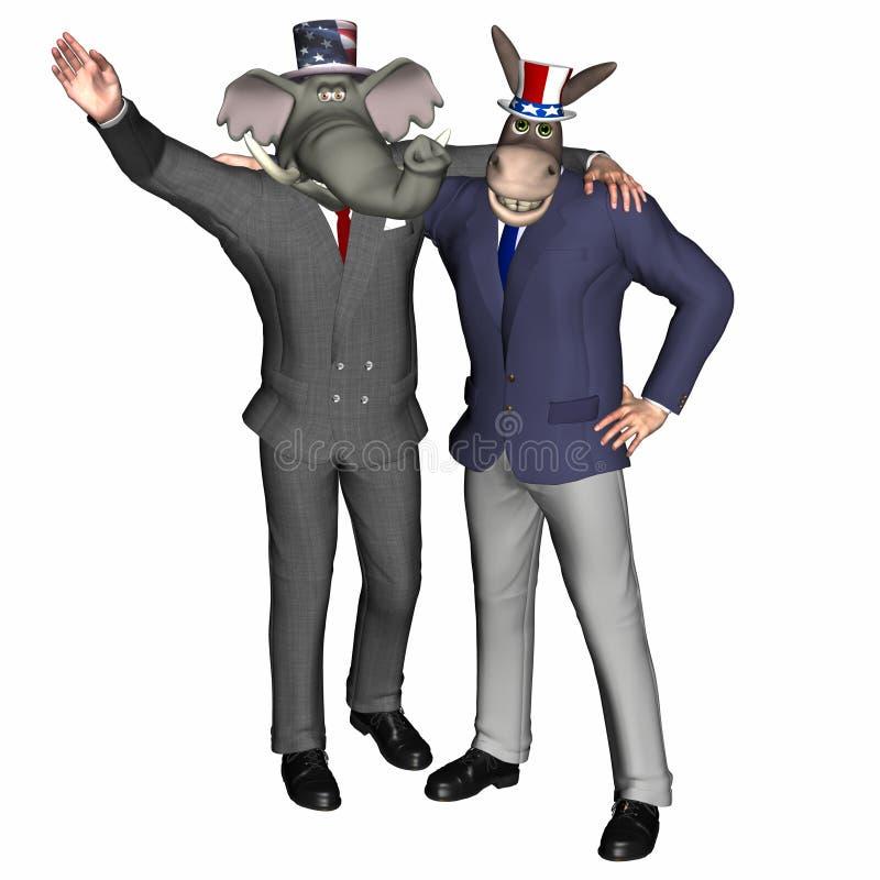 Squadra politica 1 illustrazione di stock