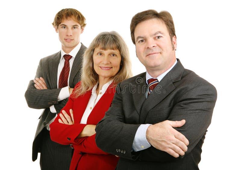 Squadra sicura di affari fotografie stock libere da diritti