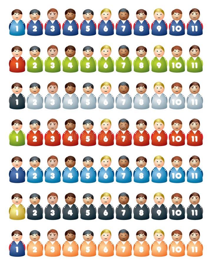 Squadre di football americano illustrazione vettoriale