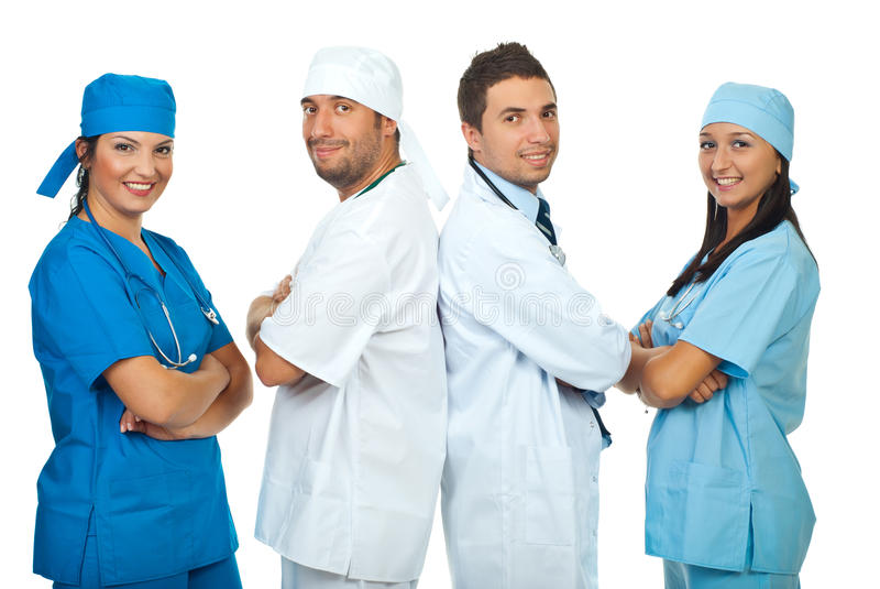 Squadre felici di medici fotografia stock libera da diritti