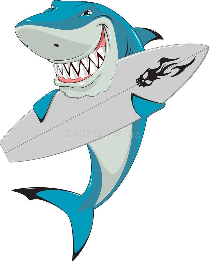 Squalo bianco illustrazione vettoriale illustrazione di for Disegno squalo bianco
