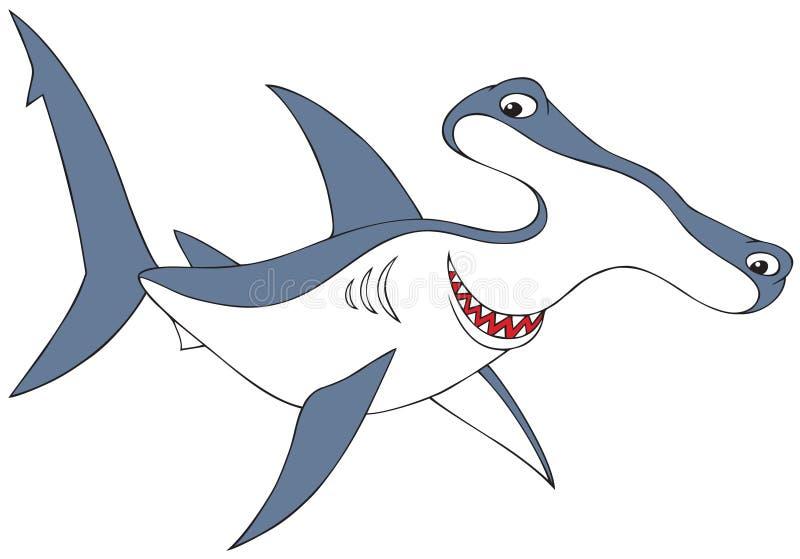 squalo Martello-intestato illustrazione di stock