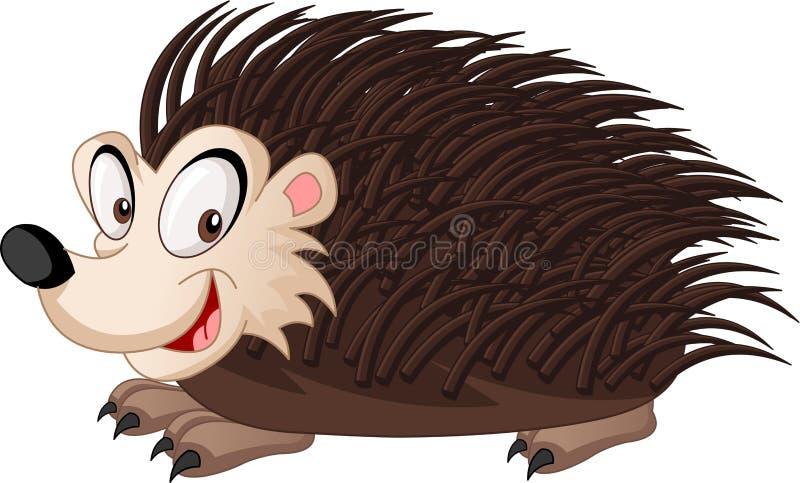 Squalo sveglio del fumetto Illustrazione di vettore dell'animale felice divertente Istrice appuntito sveglio del fumetto Illustra illustrazione vettoriale