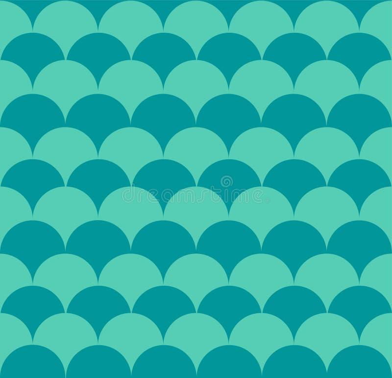 Squama fish seamless pattern. Marine design. Scales ornament vector illustration