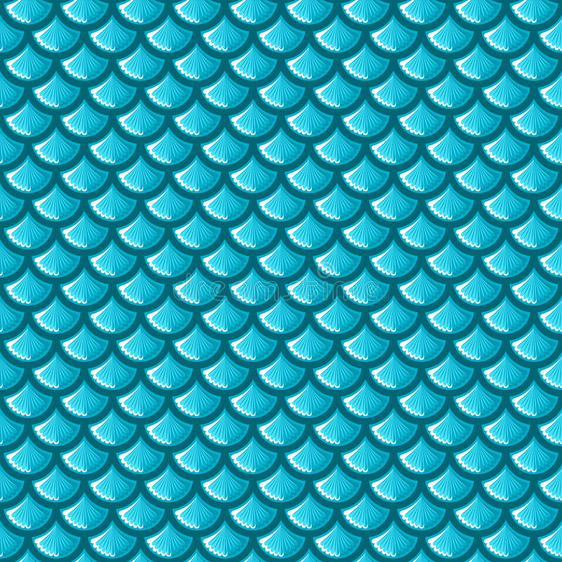 Squame blu senza cuciture del fiume royalty illustrazione gratis