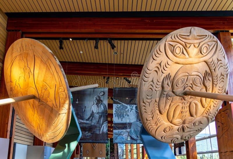 Squamish Lil'wat Kulturalny Centre uwypukla jako autentyczny Miejscowy doświadczenie zdjęcia royalty free