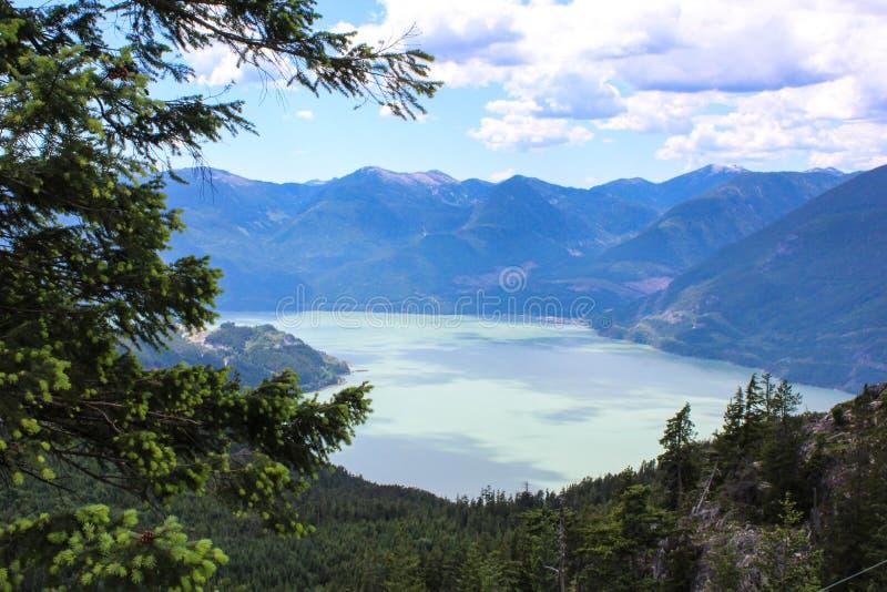 Squamish a luce del giorno, BC fotografia stock libera da diritti