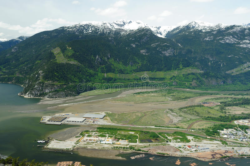 Download Squamish town and mountain stock photo. Image of forest - 14460364