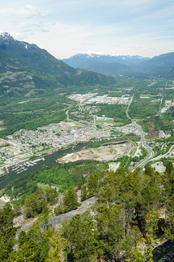 Download Squamish town and mountain stock photo. Image of bird - 15397168