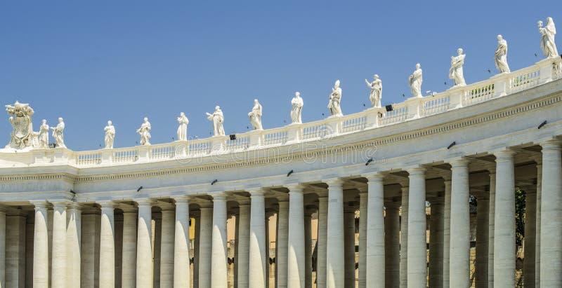Squar de St Peter, Vatican, Rome image libre de droits