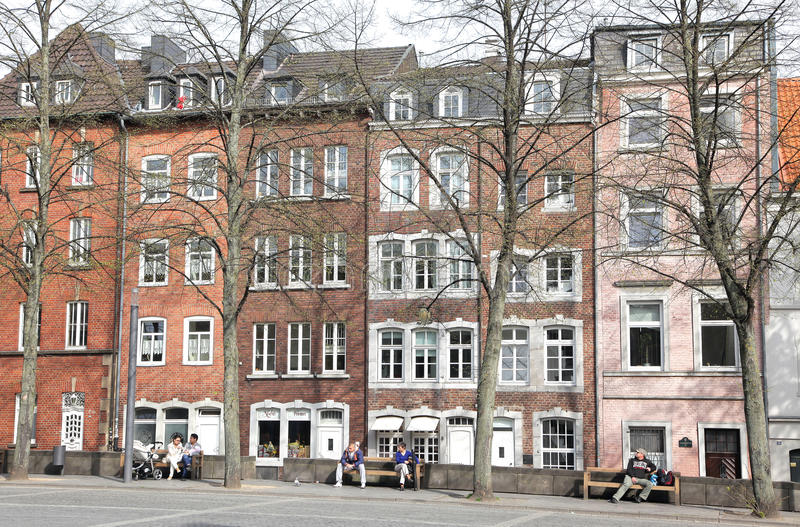 Square at Aachen, Germany royalty free stock image