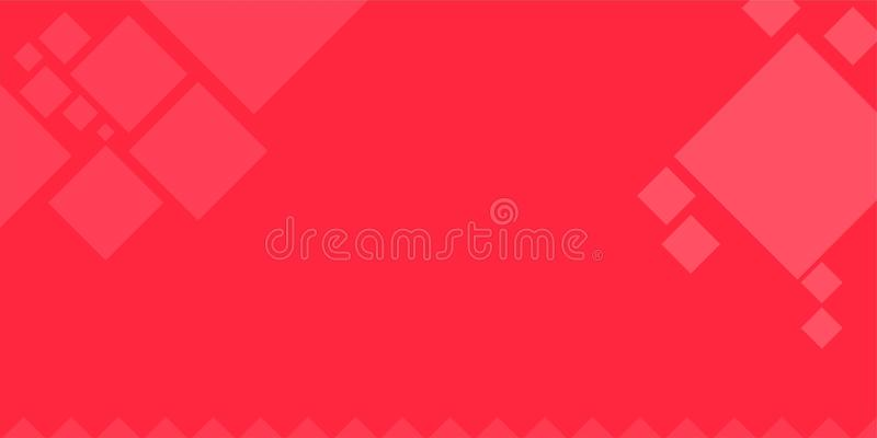 Square Abstract Red Wallpaper Background Stock Illustration