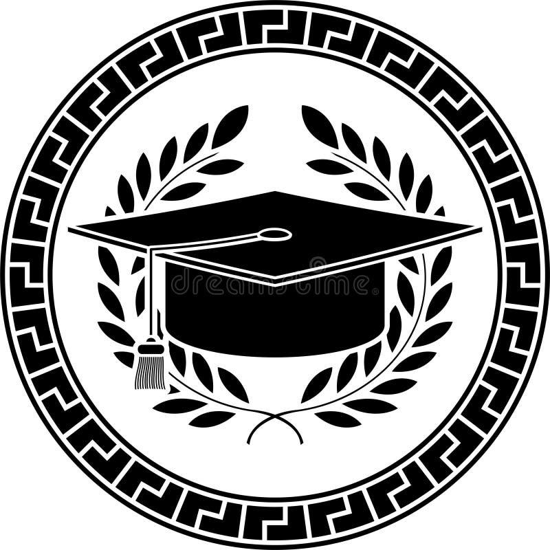 Square academic cap. Stencil. vector illustration royalty free illustration