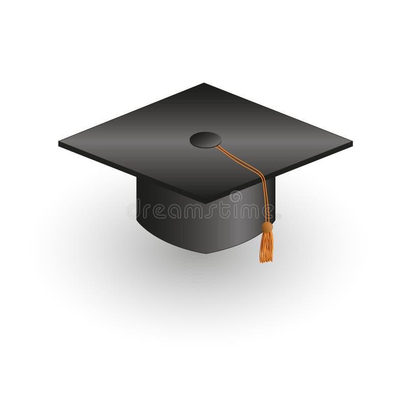 Square academic cap. Vector illustration, eps 10 vector illustration
